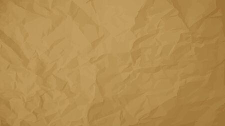 texture Vecteur de brun papier froissé. Document d'information. Texturé papier peint. Utilisez pour antique, rétro, cru, vieux, style rustique aussi. Vecteurs