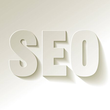 backlinks: SEO symbol white paper on a white background