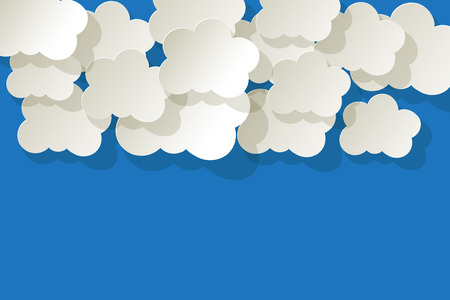 knowledgeable: White Clouds on a blue sky background
