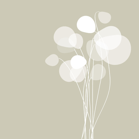 floral decoration: Flowers dandelions on a gray background.