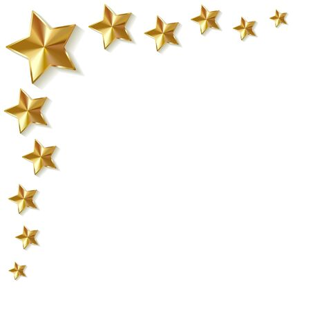 star signs: Gold star on a white background.