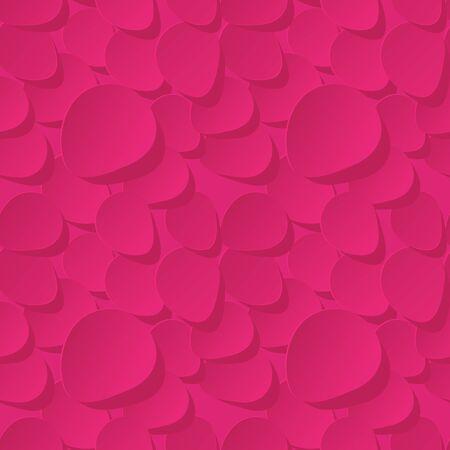 pink rose petals: Floral Seamless Vector Pattern 3d background with pink rose petals. Illustration