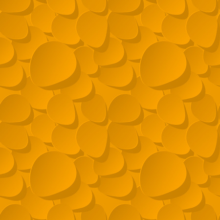 rose petals: Floral Seamless Vector Pattern 3d background with yellow rose petals. Illustration