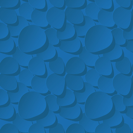 rehearsal: Floral Seamless Vector Pattern 3d background with rose petals dark blue.