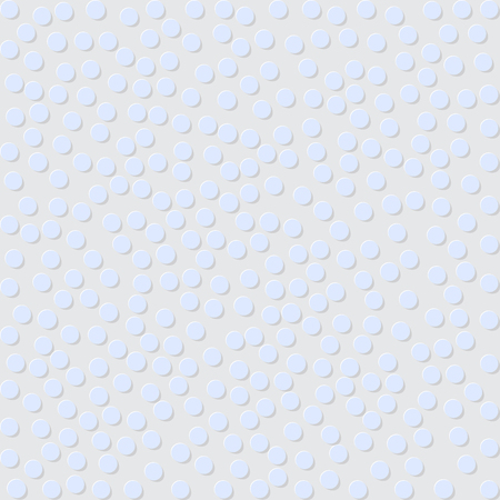 packing material: Polka dots pattern on a gray background.