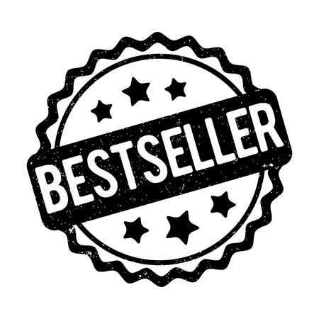 recompense: Bestseller rubber stamp black on a white background. Illustration
