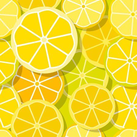 buzzer: Yellow Lemon seamless pattern with Shadows. Illustration