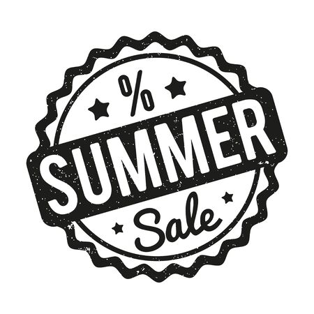 Summer Sale rubber stamp on a white background.