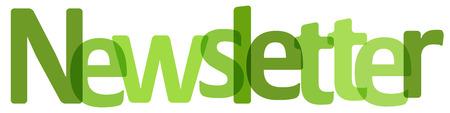 Nieuwsbriefbanner groen op een witte achtergrond. Stock Illustratie