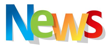 space television: News letters banner multicolor on a white background.
