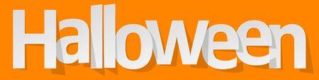 Halloween banners white on a orange background. Illustration