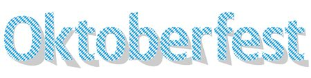 Oktoberfest Banner checkered letters on a white background.