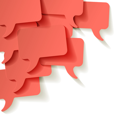 Chat speech bubbles vector Coral color on a white background in the corner Reklamní fotografie - 121435094