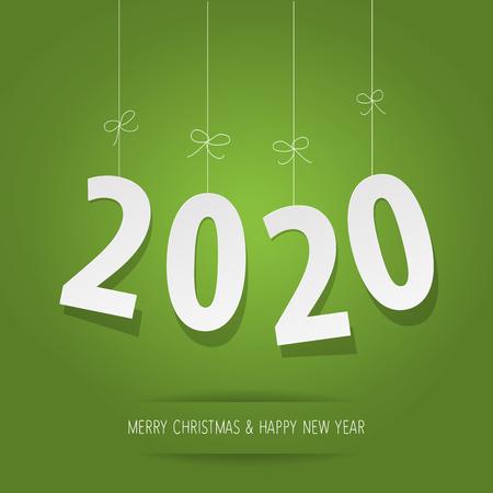 Paper 2020 digits on a green background Banco de Imagens - 122689433