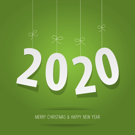 Paper 2020 digits on a green background