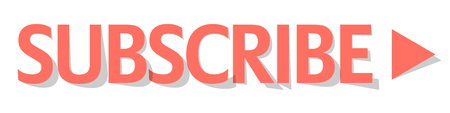 Subscribe button Coral color vector Çizim
