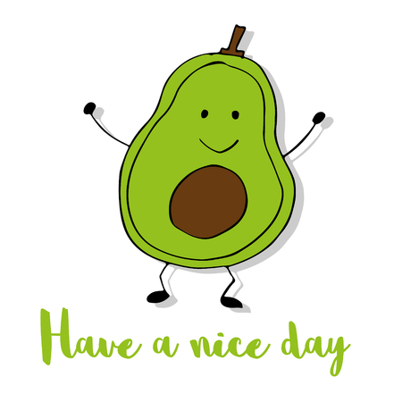 Have a nice day with avocado Иллюстрация