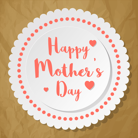 Happy Mothers Day Postcard vector illustration
