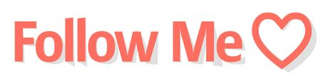 Follow me banner Coral color on a white background Иллюстрация