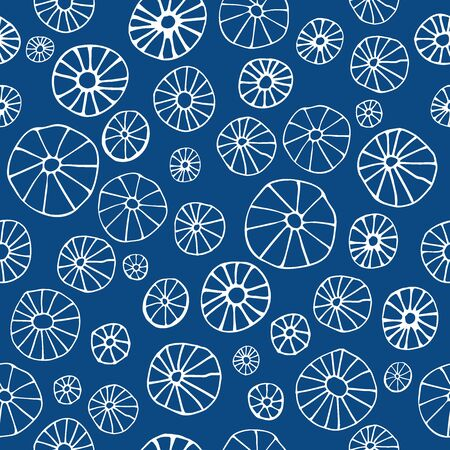 Abstract wallpaper seamless vector on a 2020 Classic Blue background