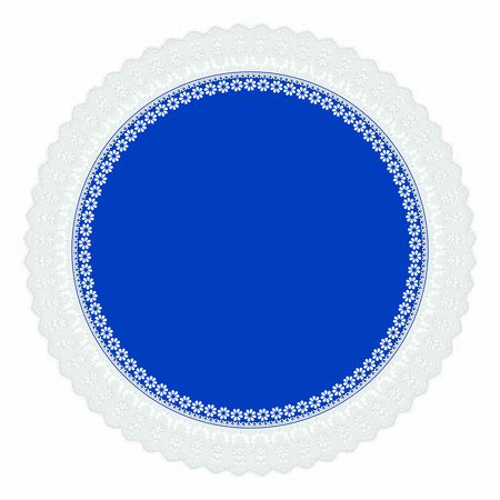 Openwork embroidery color of the year 2020 Classic Blue on a white background 일러스트