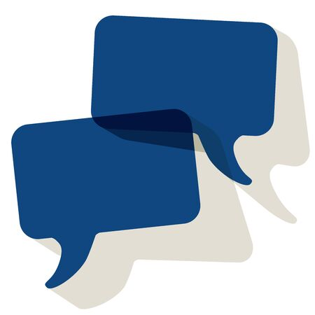 Chat speech bubbles vector color of the year 2020 Classic Blue transparent on a white background Stock Illustratie