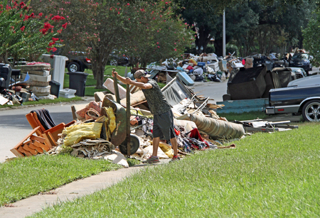 heartbreaking: BATON ROUGE - AUGUST 20: Cleaning up after the flood of 2016 in Baton Rouge, LA.