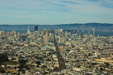 san fran: San Francisco Cityscape Stock Photo