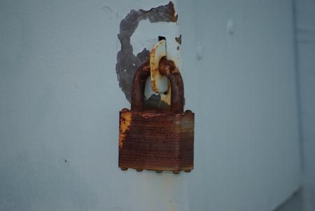 rusts: Rusty Lock Stock Photo