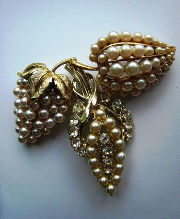 jeweled: Jeweled Grape Clusters, Pearled Brooches