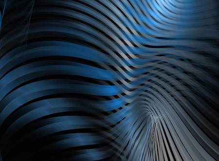 abstract waves: Abstract fractal  waves computer-generated image
