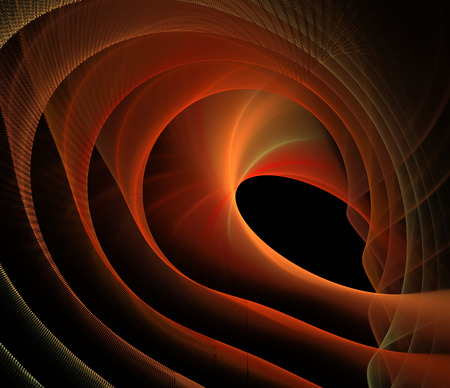 Abstract fractal elegant red waves background and copy space Stock Photo