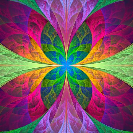 fabulous: Multicolored fabulous fractal pattern computer generated image Stock Photo