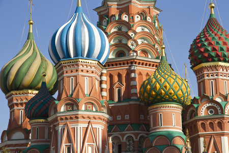 red square moscow: Close view of the Saint Basil Church. Moscow