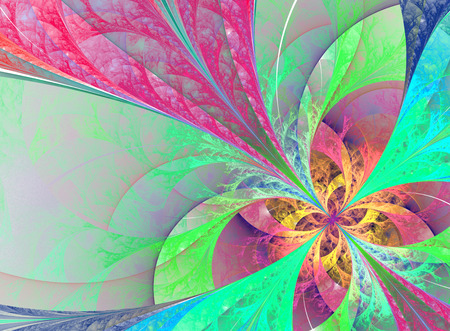 Beautiful multicolored fractal background computer generated image Stock Photo