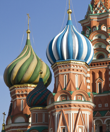 Close view of the Saint Basil Church. Moscow
