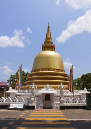 Golden temple of Dambulla, Sri Lanka, Buddhist dagoba (stupa)