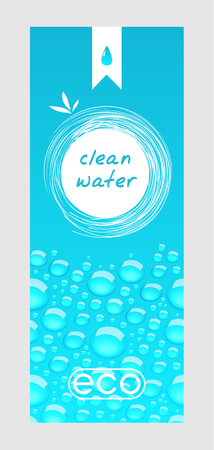 clean: Clean water banner Illustration