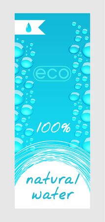 clean water: Natural water banner Illustration