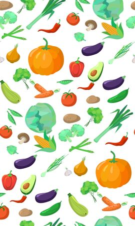 delicious: Seamless pattern delicious vegetables