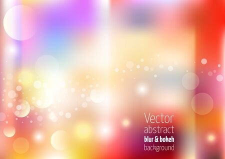 leaks: Holiday vector colorful background with colorful bokeh, light leaks and defocused lights.