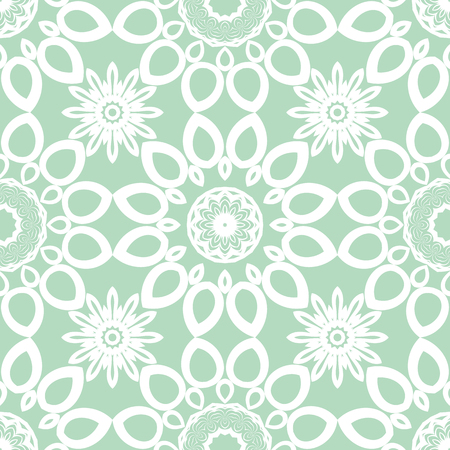 Abstract vector seamless lace pattern. Duotone graphic ornament. Geometric arabesque floral ornament. Illustration