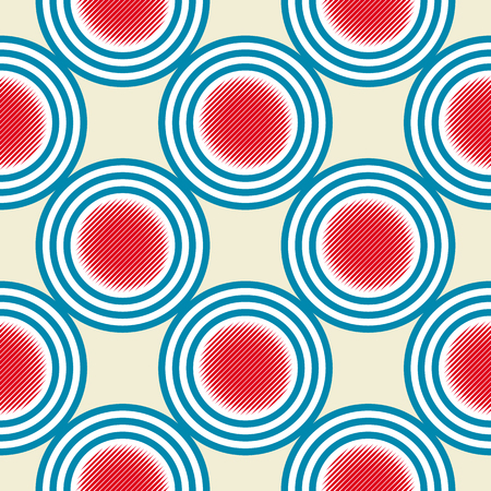 textiles: Seamless abstract pattern in constructivism soviet style. Vector vintage 20s geometric ornament.