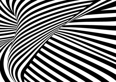 Vector op art pattern. Optical illusion abstract background.