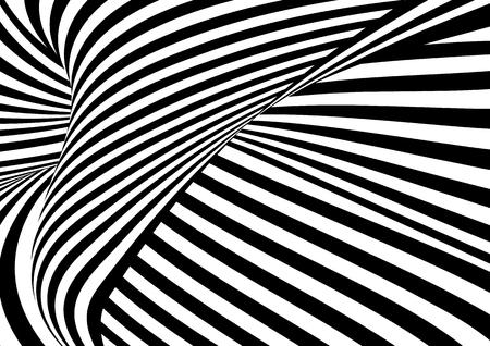 Vettore, op, modello, arte. Illustrazione astratta di illusione ottica. Archivio Fotografico - 80195691