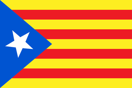 Vector illustration of Catalonia independence flag. Blue estelada