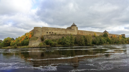Russian middle ages fortress Ivangorod near Saint-Petersburg