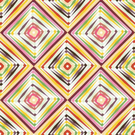 Abstract vector seamless op art pattern. Color pop art, graphic ornament. Optical illusion