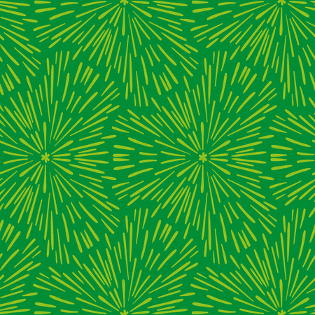 Hand drawn seamless green pattern. Abstract shabby textured background Stock Photo