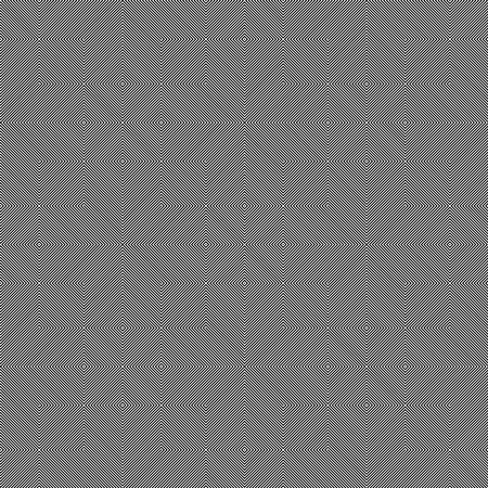 Abstract vector seamless moire pattern with cubic lattice lines. Monochrome graphic black and white ornament